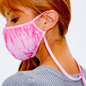 Tie Dye Face Mask with neck strap